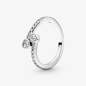Two Heart Sterling Silver Ring